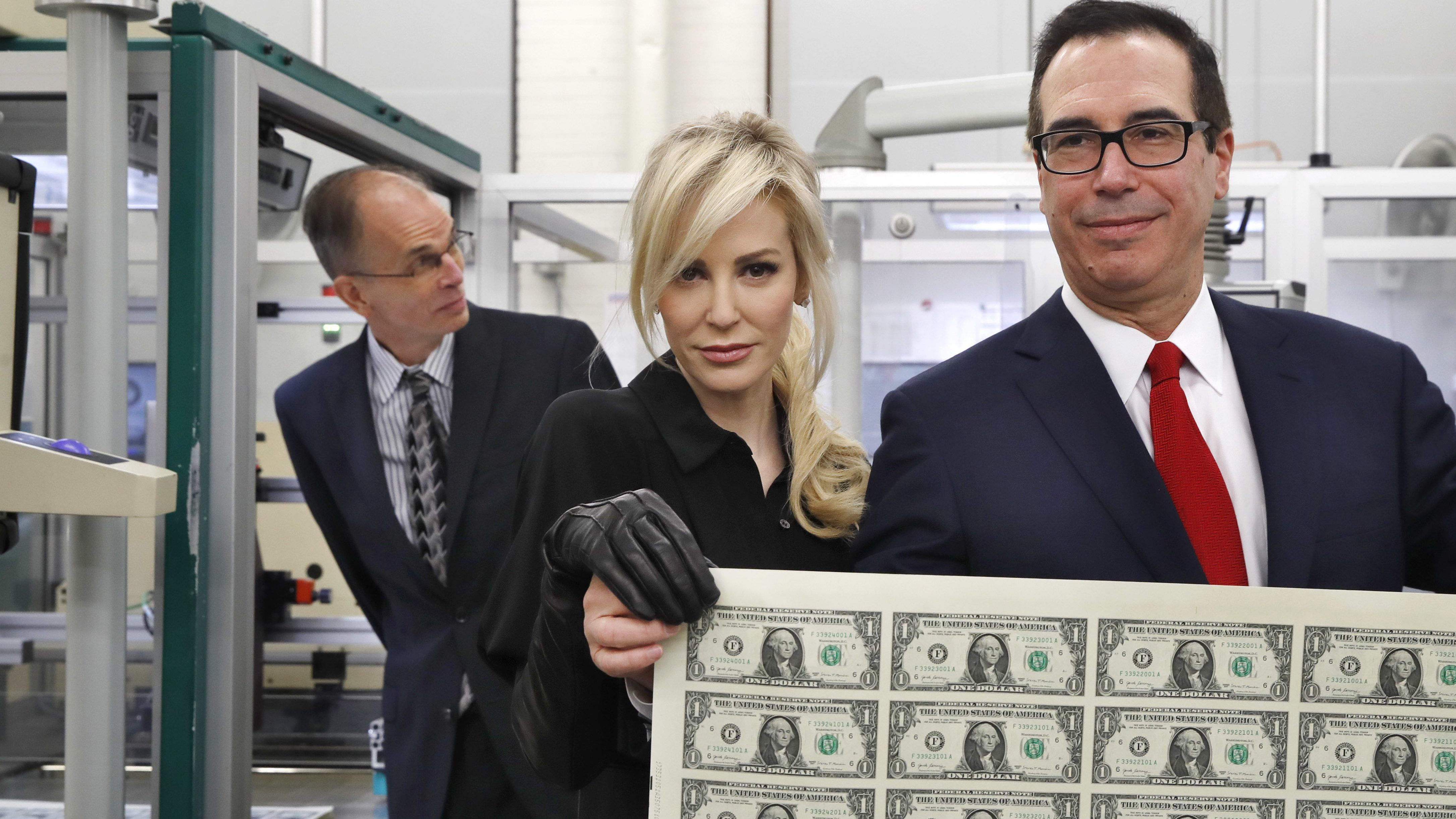 U.S. Treasury Secretary Steven Mnuchin with Wife
